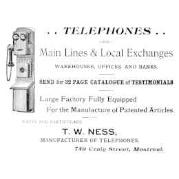 T. W. Ness, Maunfacturer of vintage telephones in Canada